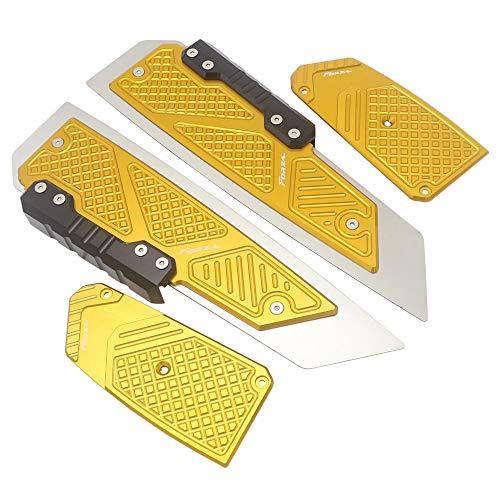 JIEWEI La nueva modificación de Scooter de pedal antideslizante es adecuado para HO.N.DA FORZA300 Componente MF13 FORZA 300 125 250 2018-2019 Para estrenar (Color : Gold)