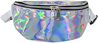 Women Waist Bag Messenger Shoulder Chest Bag Travel Waist Pack Sequin Bumbag Waterproof Fanny Pack