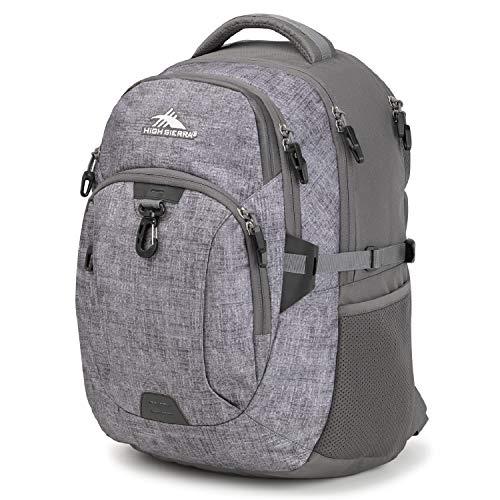 High Sierra Jarvis Laptop Backpack, One Size, Woolly Weave/Slate