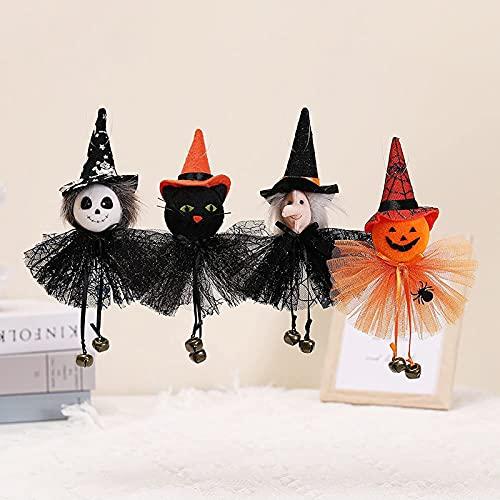 kaidan Halloween Pumpkin Ghost Hanging Decoration,Halloween Doll Bar Decor Pumpkin Ghost Witch Black Cat Pendant Scary Halloween,Halloween Hanging Gnomes Pendant Ornaments