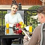 SONGMICS Gartenstuhl Klappstuhl Outdoor-Stuhl mit robustem Aluminiumgestell - 4