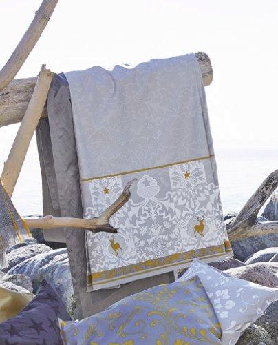 Proflax Tischläufer MARLIN ecru/silber (ecru/silber, 50 x 170 cm)