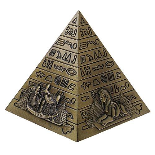Sharplace Ornamento de Modelo Pirámide Decoración de Metal Color Bronce/Cobre/Gris - Bronce, 10 x 10cm