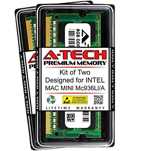 A-Tech 16GB (2 x 8GB) RAM for Intel MAC Mini MC936LL/A | DDR3 1333MHz SODIMM PC3-10600 204-Pin Non-ECC Memory Upgrade Kit