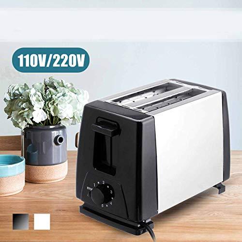 Elektrische Broodrooster Huis, 6 Versnellingen Automatische Broodbakmachine Maker Ontbijt Machine Toast Sandwich Grill Oven 2-Slice
