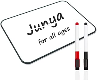 Junya Magnetic Dry Erase White Board for Online Meetings (11.8 x 8.3inch),Light Weight,Office Message Board,Stain Resistan...