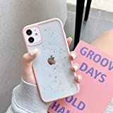 WQDWF Phone Case For iPhone 12 12mini 11 Pro MAX XR XS MAX X 7 8 Plus Transparent Soft Silicone Sequins Shell Cases,Pink,For iPhone 6Plus