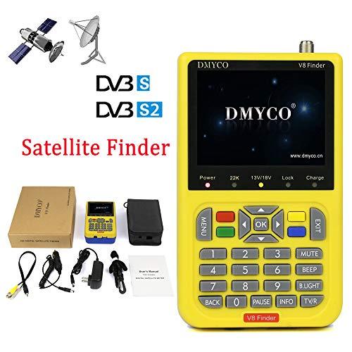 Satellite Finder V8 Finder FTA Freesat DVB S2 Receiver Digital Signal Meter, Sat TV Antenna Outdoor Signal Detector , MPEG4 HD 1080P Satellite LNB Directv Dish Adjusting Tool