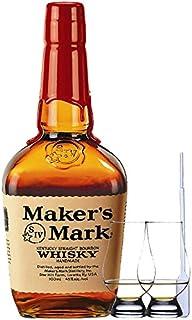 Makers Mark Red Seal Bourbon Whiskey 1,0 Liter  2 Glencairn Gläser  Einwegpipette 1 Stück
