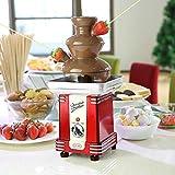 Clásico Retro Fuente De Chocolate 3 Gráficos Mesa Cima Máquina Mini Derritiendo Máquina Chocolate Cascada Fondue para Hogar Boda Navidad Partido