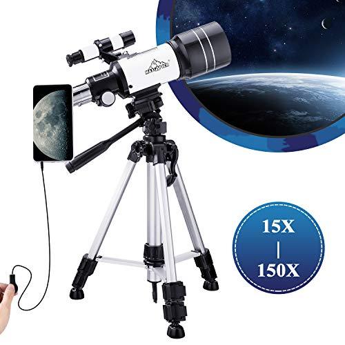 150X Telescopio Bambini Monoculare Astronomico 300-70mm per...