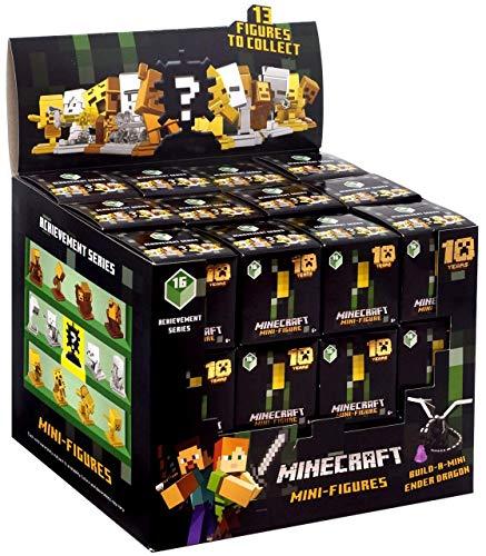 JINX Minecraft Mini Figuren (Achievement Serie 16) 10 Jahre Geheimnis Blind Kiste Packung [Voll Schaukasten von 36]