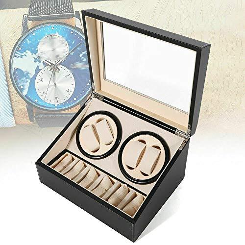 Caja expositora para relojes automáticos (4 + 6 unidades), color negro