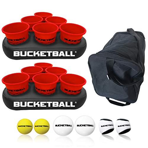 BucketBall - Giant Yard Pong Edition Party Pack - Best Beach, Pool, Yard, Camping, Tailgate, BBQ, Lawn, Water, Indoor, Outdoor Game Toy for Adults, Boys, Girls, Teens, Family