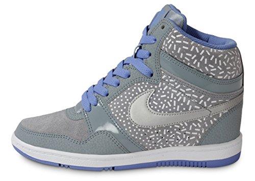 Nike Damen Force Sky Damen Hi Top Turnschuhe/Schnürschuhe Sport Schuh, Schuhe grau Grey/Met Silver 4 UK / 37.5 EU