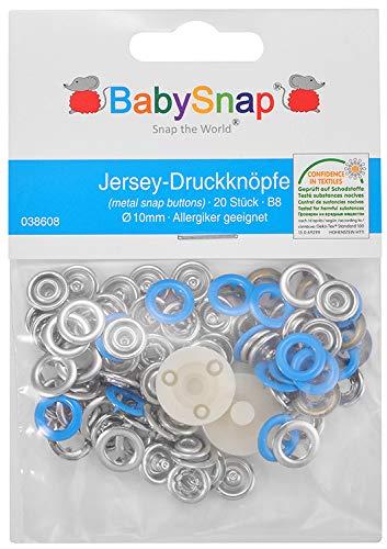 BabySnap Jersey Druckknöpfe (10,5mm) (Blau (B08))