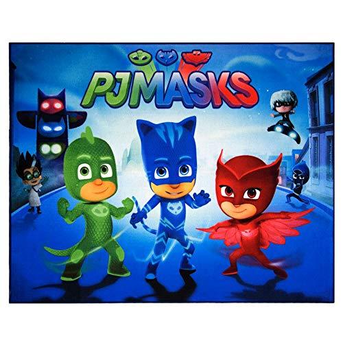 GUIZMAX Compatible avec Tapis Enfant PJ Masks 125 x 95 cm Chambre Disney