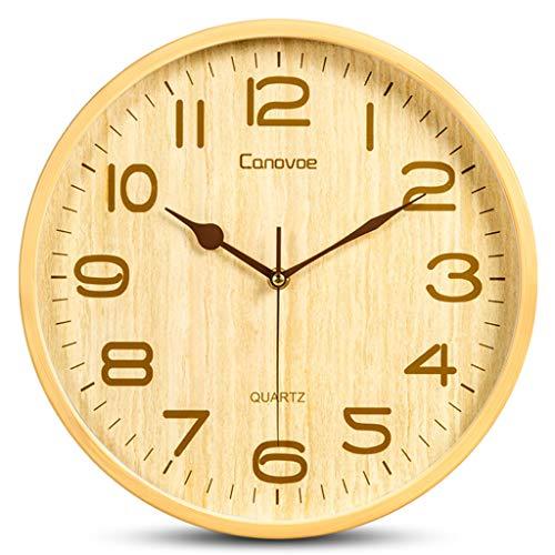 Wall clock Reloj de Pared de Grano de Madera, Reloj de Pared...