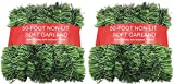 50 Foot Garland for Christmas Decorations - Non-Lit Soft Green Holiday Decor for Outdoor or Indoor Use - Premium Quality Home Garden Artificial Greenery, or Wedding Party Decorations(Pack of 2)
