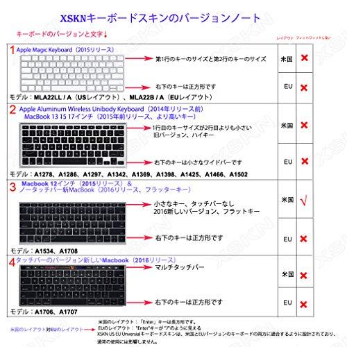 『MacBook 12(A1534)用のXSKNアラビア語言語のシリコーンカバー新しいMacBook Pro 13(A1708、No Touch Bar)キーボード - USレイアウト (ブラック)』の3枚目の画像