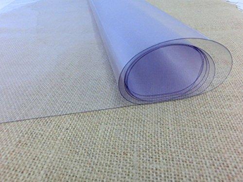 Plástico PVC transparente de 140 cm ancho para manualidades y confecciones. 100% PVC - Grosor: 200 micras (0.02 cm) - Se vende por metros: 1 UNIDAD = 1 METRO