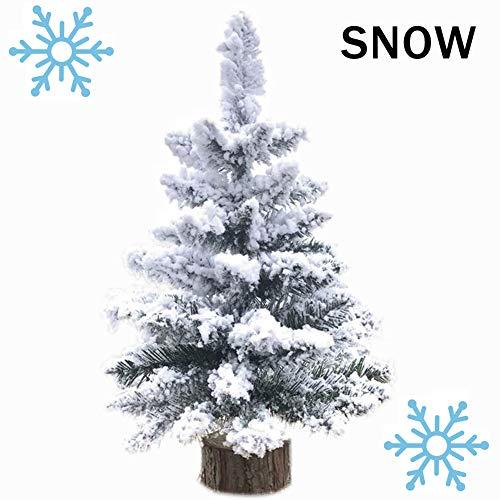 A-SZCXTOP 50cm Mini Albero di Natale Desktop Albero con coperti di Neve Artificiale Albero di Natale per la casa e L'Ufficio di Decorazione del deskto