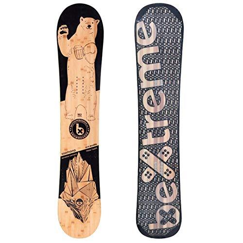 Bextreme Tabla Snowboard Freestyle Diamond 2020. Eco-Board de Bambu, Haya y álamo. Medidas Tabla 152, 157 y 160cm. Snow para Hombre y Mujer