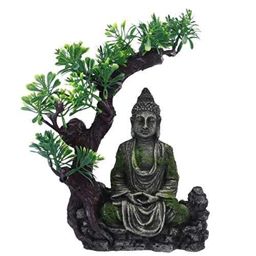 Popop-Aquarium-Buddha-Statue, Dekoration, sitzende Buddha-Statue, Unterwasser-Landschaft, Versteck aus Kunstharz