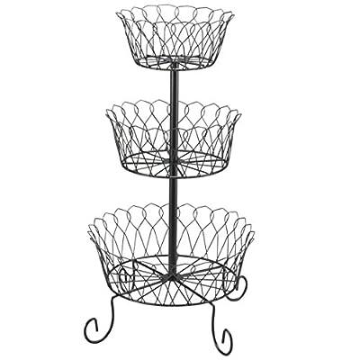Eyesonme 3 Tier Fruit Bowl Basket Holder Kitchen Stand Vegetables Storage Organizer Decor by