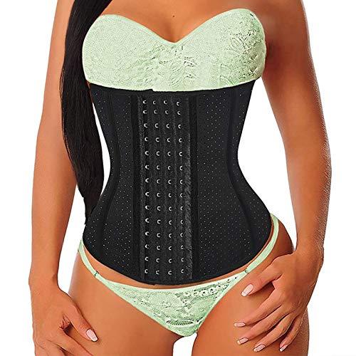 Mujer Waist Trainer,Mujer Bustiers,Faja Reductora,Corsets Reductor Cinturilla Moldeadora,9 Huesos de Aceros Fajas Colombianas,Faja Adelgazante Fajas Cinturilla,Fajas Adelgazantes(Size:X-pequeño)