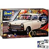 Trabant 601 Limousine Beige 1964-1990 mit Diorama Brandenburger Tor Farben Leim Pinsel 07619 Bausatz Kit 1/24 Revell Modell Auto mit individiuellem...