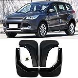 XIANGBAO QI Mud Flaps Coche Set 4 Piezas de vehículos Guardabarros Guardabarros Guardabarros Delantero y Trasero Suave ABS Mudflaps for Ford Kuga 2 de Escape 2013-2018