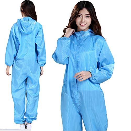 Overall Hood, elastische manchetten, enkels, taille. Chemische beschermende overall. Unisex wegwerp werkkleding voor reinigen, schilderen, fabricage. Lichtgewicht, ademend.