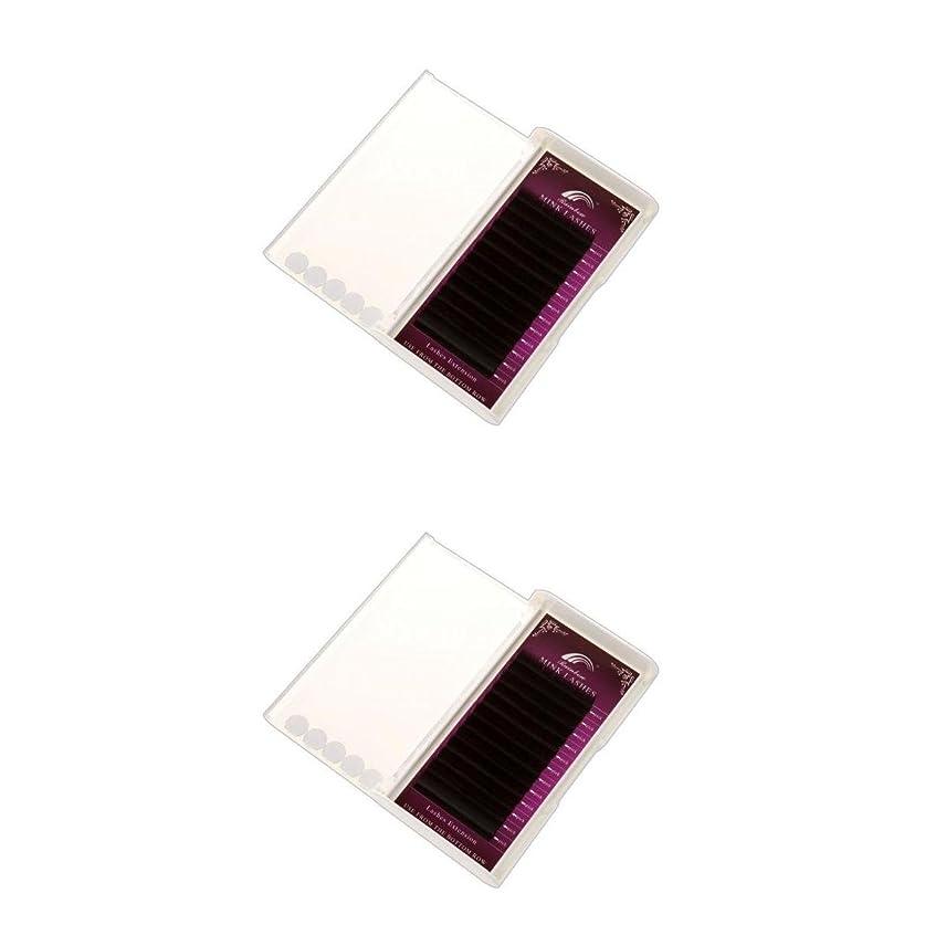 放映子逆さまにKesoto 2トレイ つけまつげ 3D まつ毛 拡張 半永久的 Cカール 0.07mm