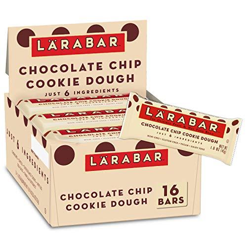 Larabar Chocolate Chip Cookie Dough, Gluten Free Vegan Fruit & Nut Bar, 1.6 oz Bars, 16 Ct