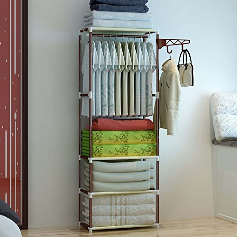 Landed Simple Steel Coat Rack Assembling Coat Rack Bold Creative Bedroom Clothes Rack