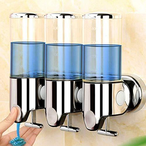 L-YINGZON Botella dispensador de jabón 500/1000/1500 ml dispensador de jabón líquido for montaje en pared Accesorios de baño de plástico de detergente champú dispensadores de jabón de cocina Accesorio