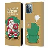 Head Case Designs Christmas Wish Wilbur Il Gatto Natale all Star Cover in Pelle a Portafoglio Compatibile con Apple iPhone 12 / iPhone 12 PRO