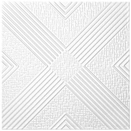 Plafondtegels XPS Vorm Hexim 50x50cm NR.73 10 M ²/40 Plate Kleur: wit