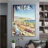 meishaonv Provence Nizza Poster Frankreich Pop Art World