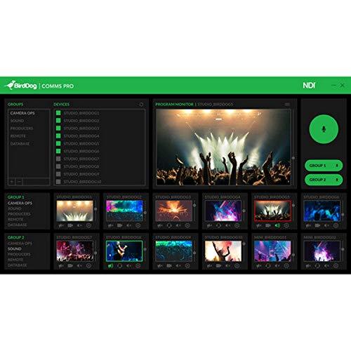 BirdDog Comms Pro NDI Audio Intercom System Software