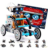 STEM Solar Robot Creation Kit - 12 Toy Configurations in 1 for Endless Building Fun - Solar Powered DIY Science Experiments and STEAM Toys for Kids Ages 10 and Up (190 Pieces)