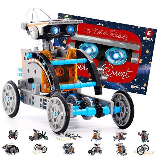 줄기는 태양 로봇을 만들기 키트-12 장난감을 구성에서 1 위한 끝없는 건물이 재미-태양 강화 DIY 과학 실험 및 증기 장난감에 대한 아이들을 만 10 세 이상(190 개)