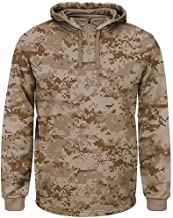 Camouflage 1/4 Zip Thermal Hooded Fleece (Custom or Blank Back) Great for Casual Wear or All Sports: Baseball, Football, Soccer, Volleyball…