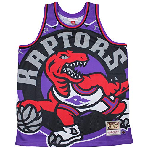 M&N Big Face Jersey Toronto Raptors NBA Trikot lila Purple Größe L bis XXL