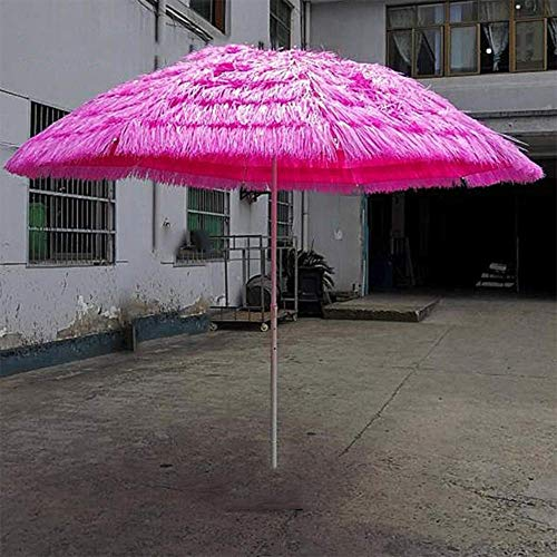 HZK 2.8m Imitation Straw Garden Umbrella Anti-Uv Waterproof Style Tarpaulin Market Umbrella Banana Umbrella Outdoor Umbrella LDFZ WDDT