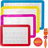 Haquno 4 Stück Silikon Backmatten