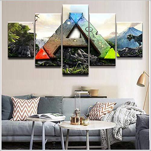 LTLH Kunstdruck Malerei 5 Stücke Ark Überleben Entwickelt Leinwand Poster HD Wandbild Für Heimtextilien Kinderzimmer,A,20x35×2 20×45×2 20x55x1