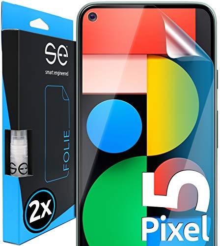 [2 Stück] 3D Schutzfolien kompatibel mit Google Pixel 5, hüllenfre&liche durchsichtige HD Bildschirmschutz-Folie, Schutz vor Dreck & Kratzern, kein Schutzglas - smart Engineered