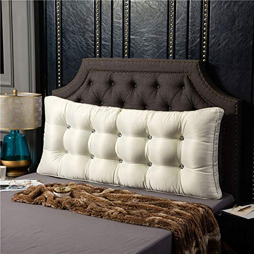 ZFHNYJWKL Cojín triangular para cama, cojín de cuña para sofá, cama, respaldo grande, respaldo de cama, almohada larga para cama, litera con funda extraíble (color: A, tamaño: 200 x 60 cm)